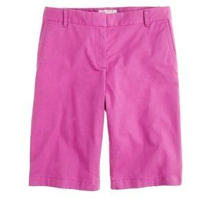 J. Crew Bermuda Shorts Cotton Chinos Pink